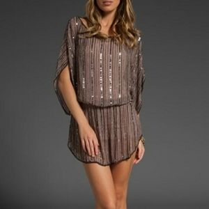 Parker mini beaded tunic night out apparel